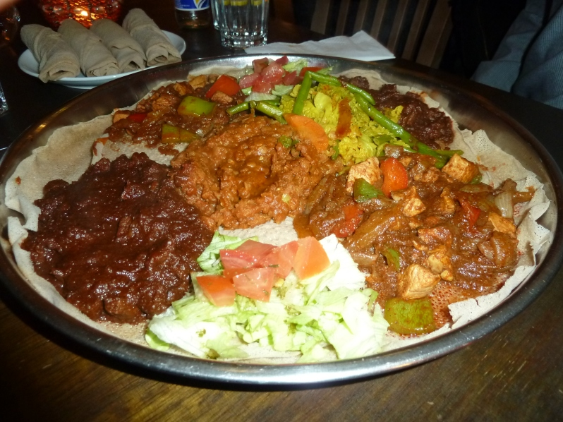 Injera plus delicious dishes...