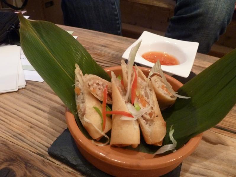 Lumpia Shanghai - pork and prawn srping rolls