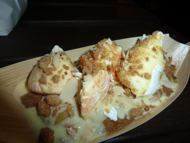 Meringue Hot Apple Crumble