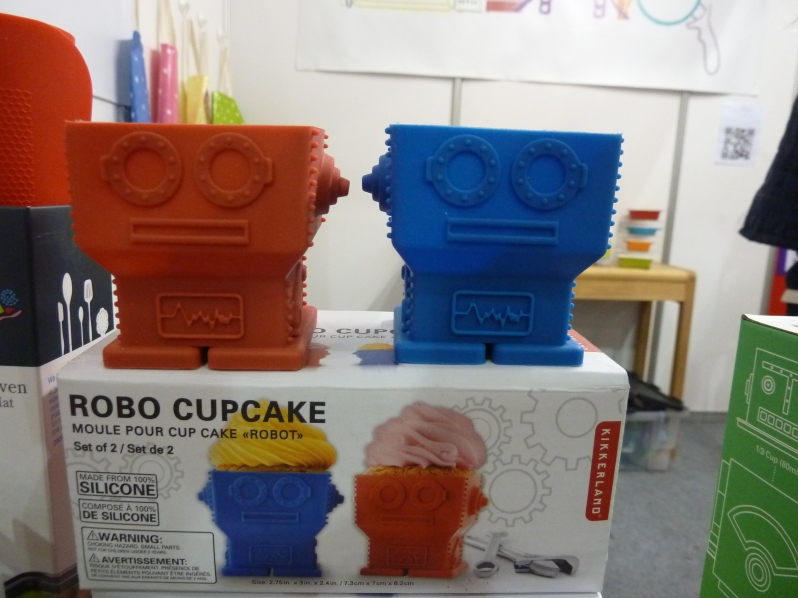 Who doesn't want to eat a cupcake out of a robot's head?