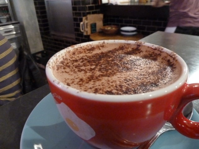 Hot chocolate - way too sweet!