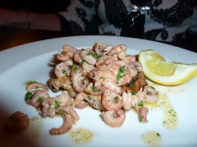 Shrimps on toast