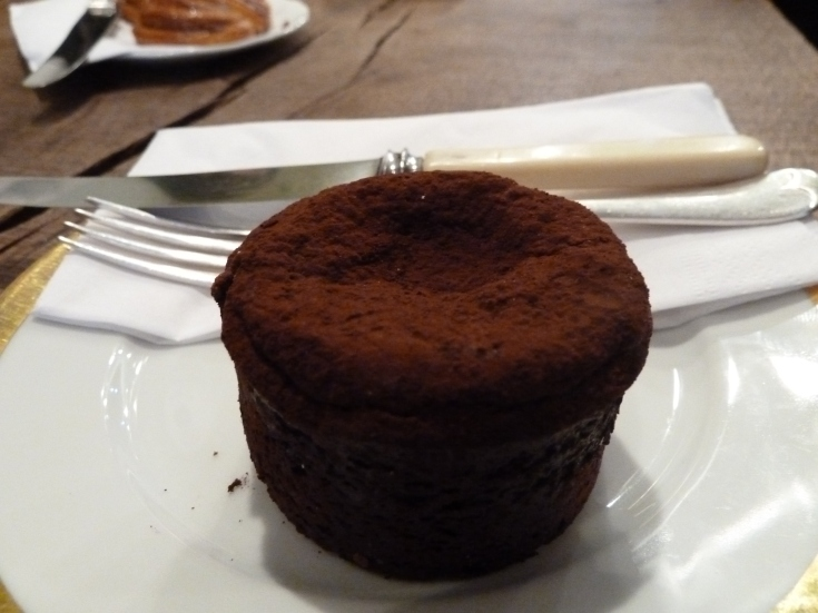 Flourless chocolate cake - wonder what it was actually made of...