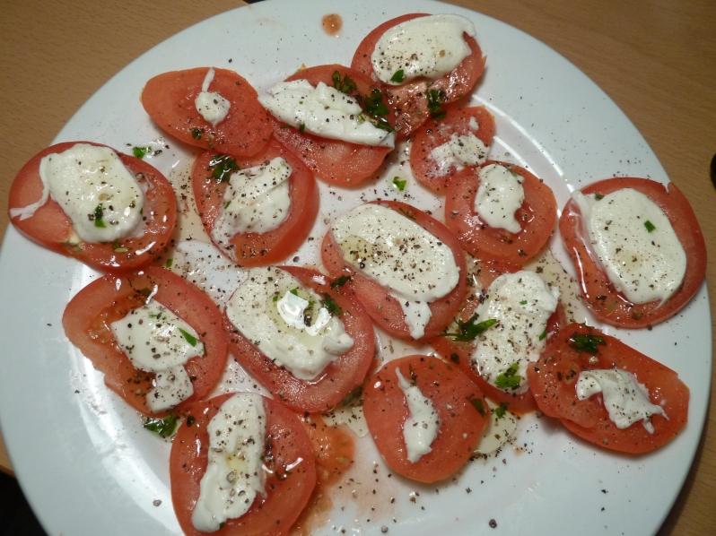 Tomato and Mozzarella Appetiser Plate