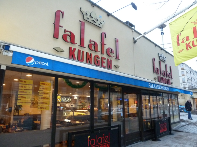 My boyfriend reports that this is the best place for falafel in Stockholm