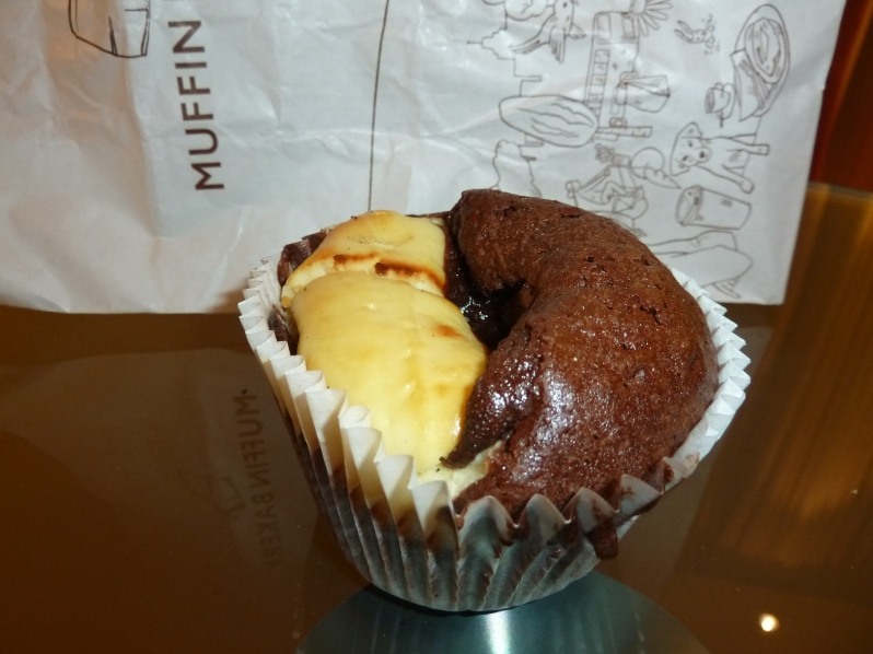 The King of Muffins: Chocolate Brownie and Cheesecake