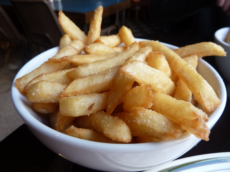 Dripping cooked chips