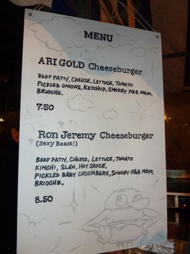 Patty & Bun menu