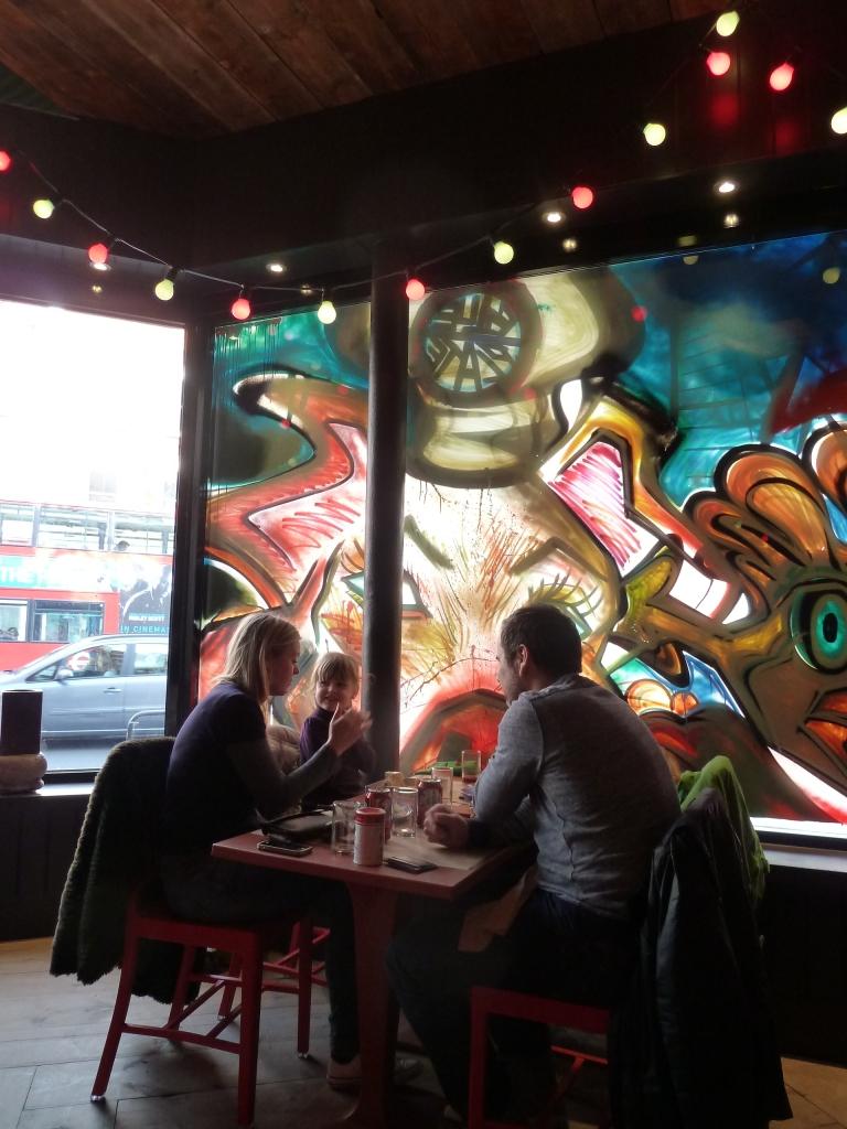 Inside the café...