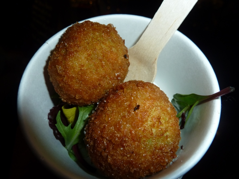 Pea and Ham Arancini