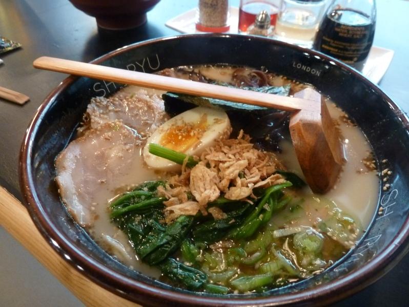Shoryu Ganso Tonkotsu - their signature dish