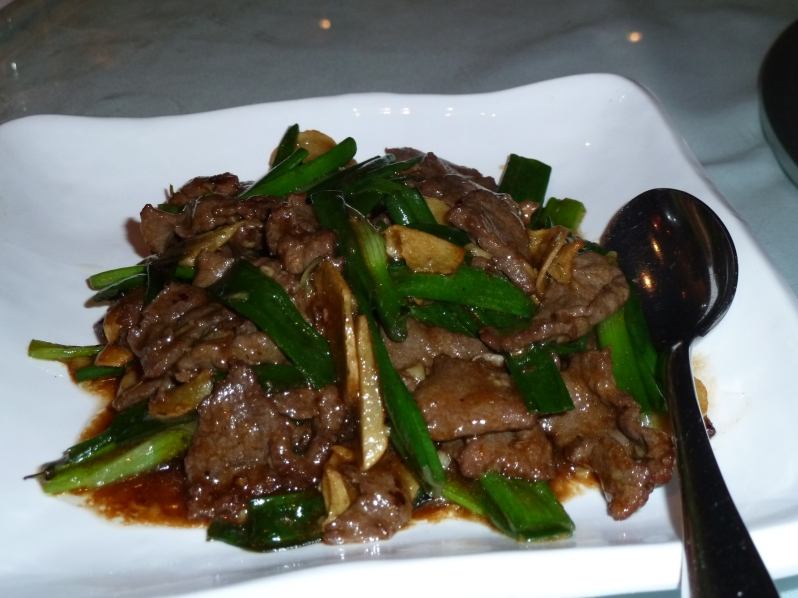 Sautéed Beef with Ginger and Spring Onion