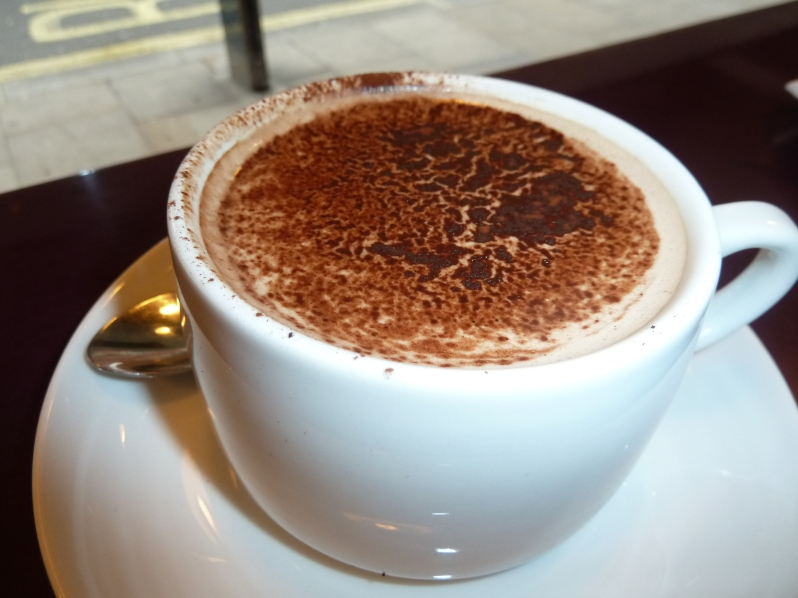 Hot choc at Curzon Soho branch
