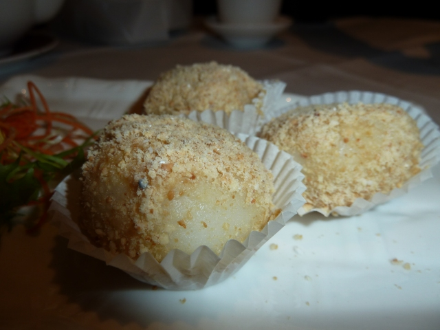 Black Sesame Paste in Peanut Crumbs