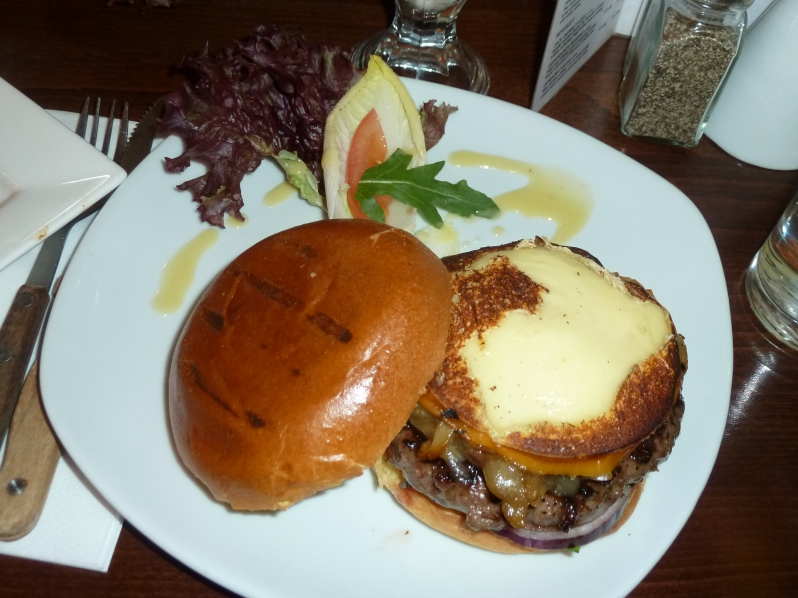 Steak Bavarian Burger - with lots of smoked Bavarian cheese!