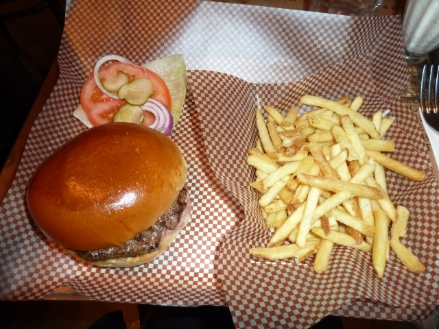 6oz burger & fries