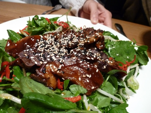 Crispy Duck Salad with Honey and Mustard Dressing