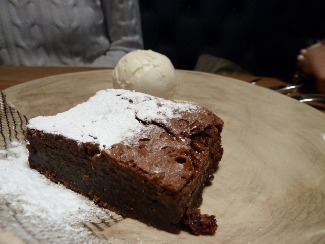Chocolate Brownie with Earl Grey Ice-Cream