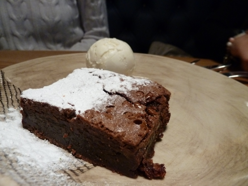 Chocolate Brownie with Earl Grey Ice-Cream