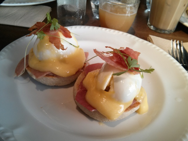 Poached eggs with Dukeshill Shropshire Ham (£9.00)