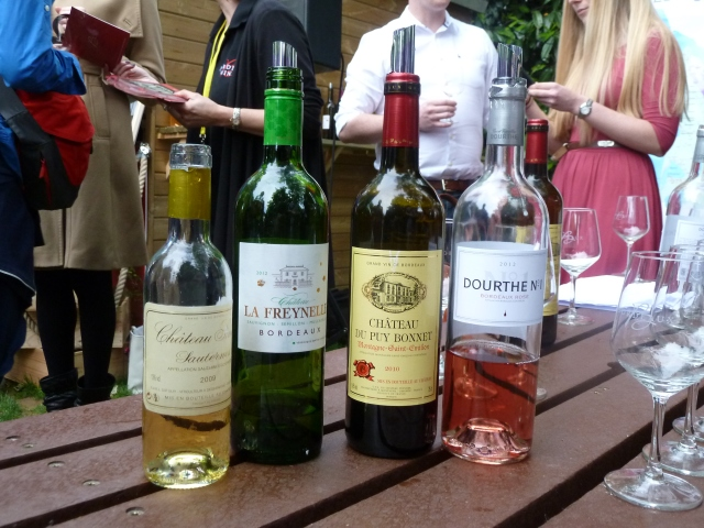 The wines of the evening