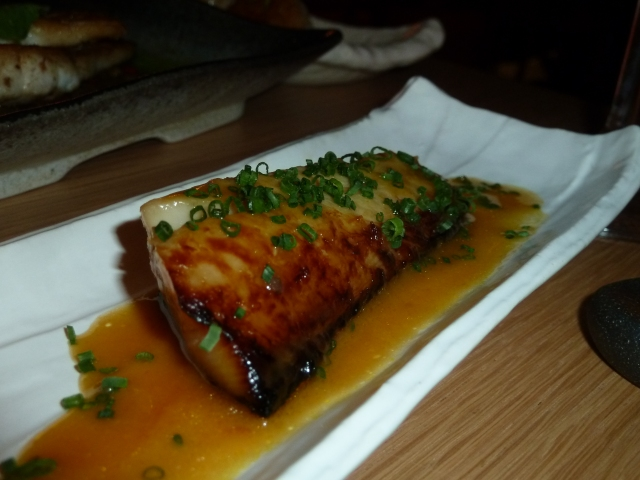 Black cod with yellow chilli miso