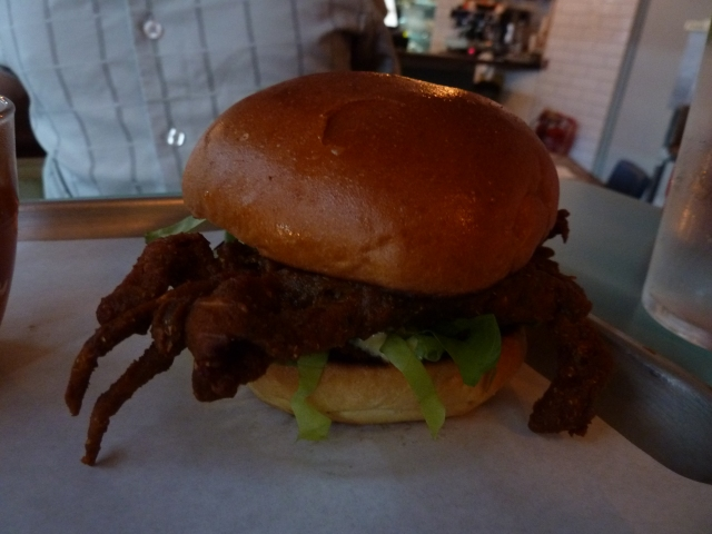 Soft-shell crab burger