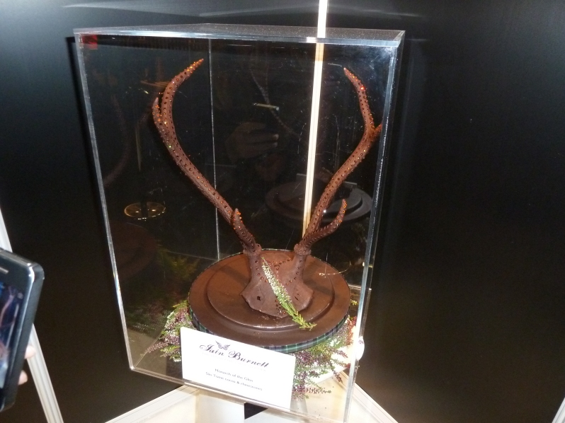 Antlers covered in chocolate...