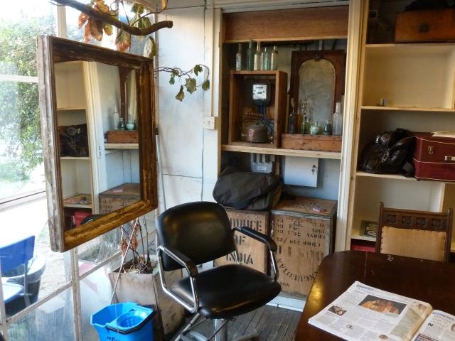 In the salon