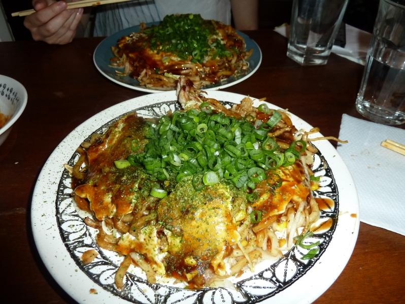 Okonomiyaki Hiroshima-style!