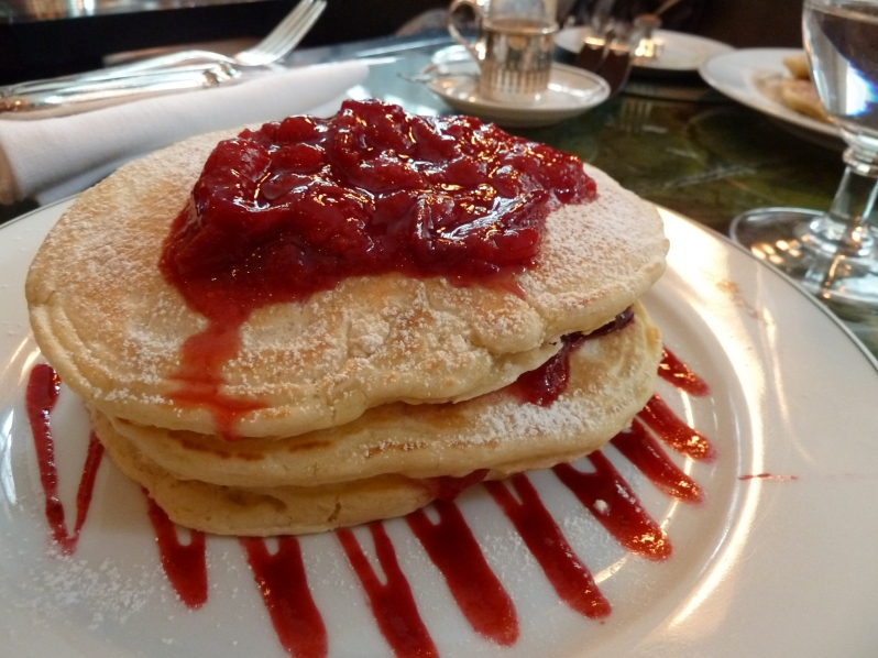 Plum and cinnamon compote at The Delaunay