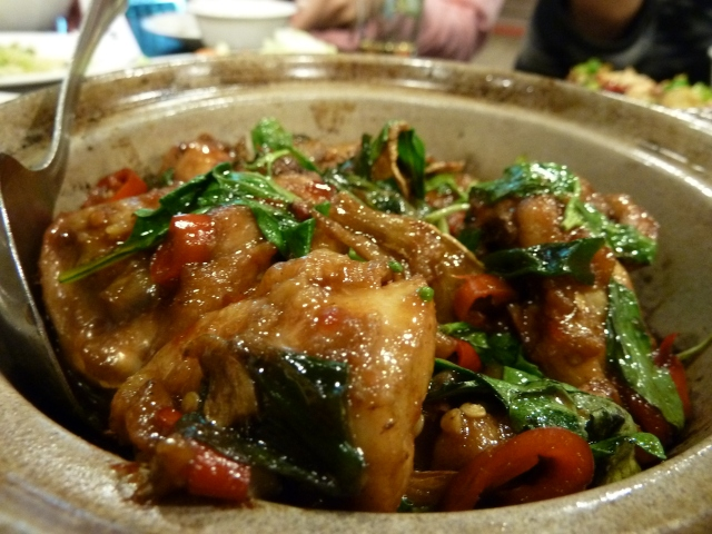 Delicious chicken with coriander