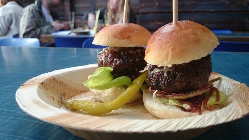 Pork and foie gras burger