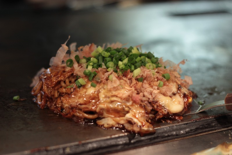 My pork and prawn okonomiyaki