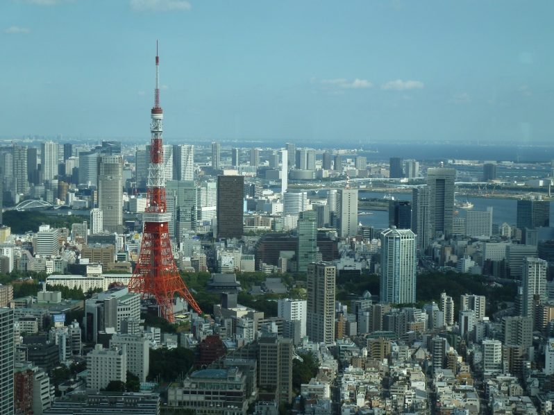 View of Tokyo and Tokyo Tower