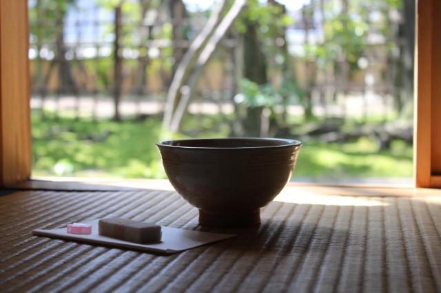 Tea with a garden view