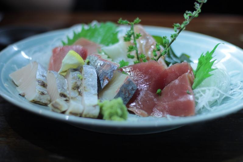 Some very fresh sashimi