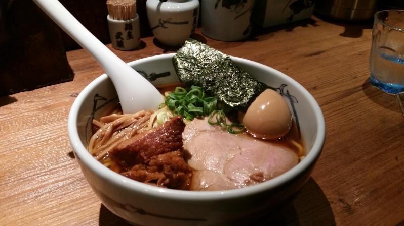 Pork belly tonkotsu ramen at Menya Musashi