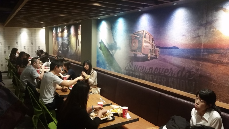 Moody - Taco Bell interior attempts hipster
