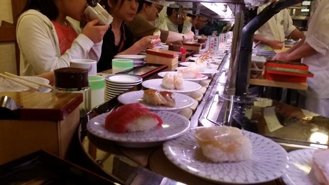 Kaiten (conveyor belt) sushi!