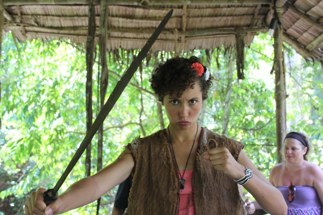 They gave me a sword and made me the tribe leader - how could I NOT be happy?